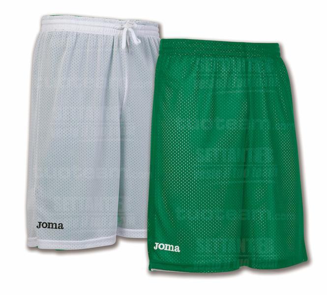 100529 - ROOKIE SHORT DOUBLE 100% polyester mesh - 450 VERDE/BIANCO