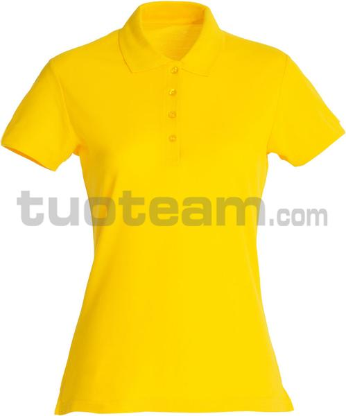 028231 - polo basic lady - 10 giallo limone