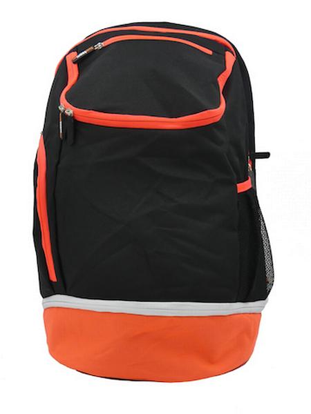 780087 - Zainetto Backpack 24 - NERO / ARANCIO FLUO