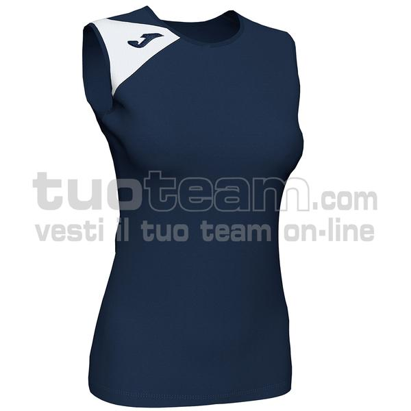 900870 - SPIKE II WOMAN SMANICATO 100% polyester interlock - 332 DARK NAVY / BIANCO