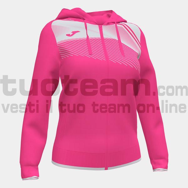 901067 - SUPERNOVA II WOMAN FELPA FULL ZIP CAPPUCCIO 100% polyester interlock - ROSA FLUO