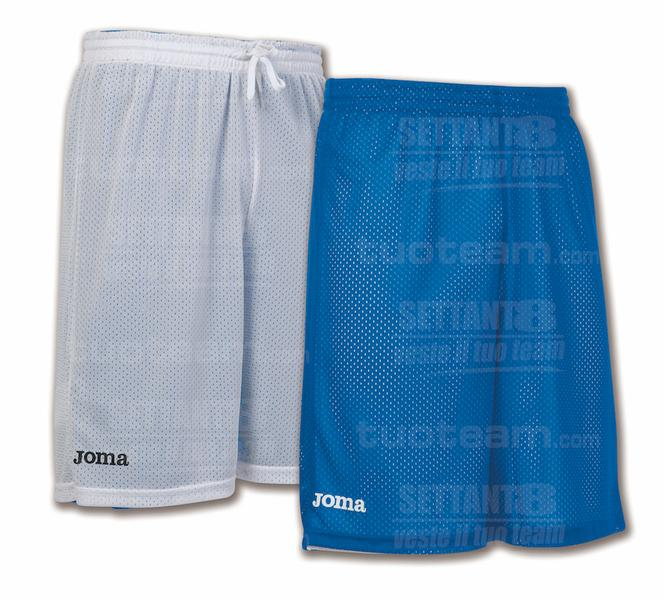 100529 - ROOKIE SHORT DOUBLE 100% polyester mesh - 700 BLU/BIANCO