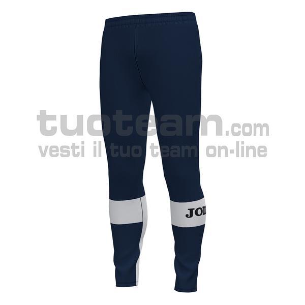 101577 - PANTALONE FREEDOM 100% polyester fleece - 332 DARK NAVY / BIANCO