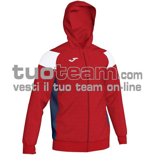 101271 - CREW III FELPA FULL ZIP 100% polyester fleece - 602 ROSSO / BIANCO