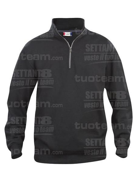 021033 - FELPA Basic Half Zip - 99 nero