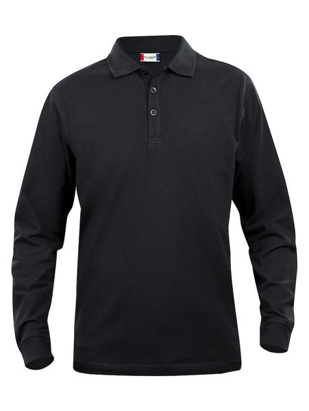 028233 - Basic Polo Long Sleeve Junior - 99 nero