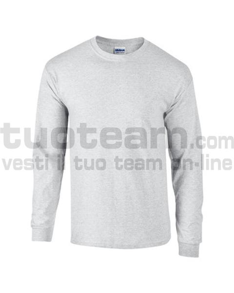 GL2400 - Ultra Cotton Maglia G/C-M/L 100% Cot. 205 gr/m2 - Ash