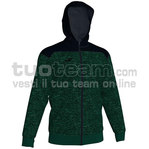 101283 - WINNER II FELPA WINNER II FULL ZIP 80% cotton 20% polyester - 425 VERDE/NERO