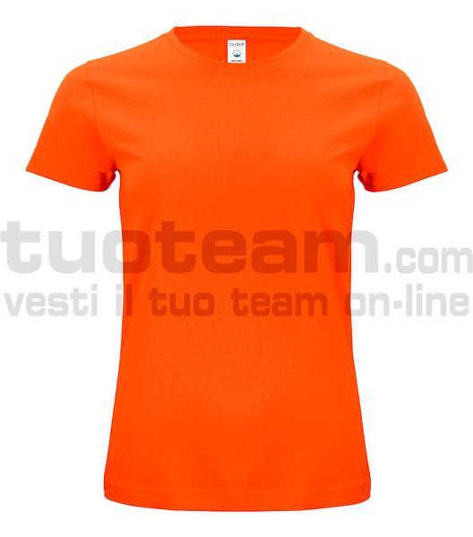 029365 - Organic Cotton T-shirt Lady - 18 arancione