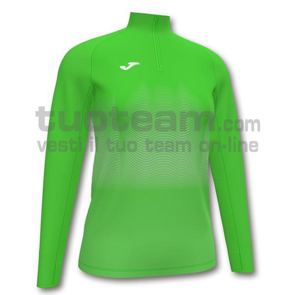 901031 - ELITE VII WOMAN FELPA 90% polyester 10% fleece elastane - 020 VERDE FLUOR
