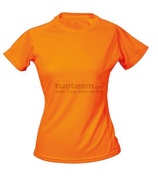 99381 - T-Shirt Montevideo Lady - ORANGEFLUO