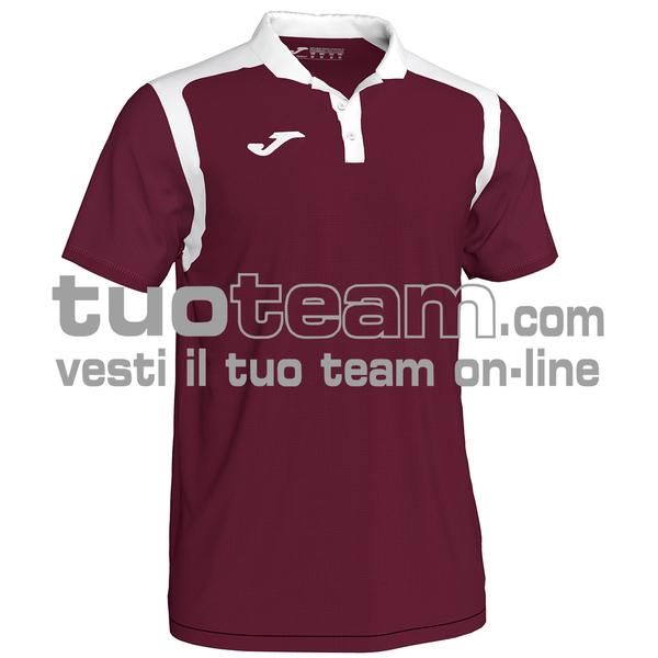 101265 - CHAMPIONSHIP V POLO 100% polyester interlock - 672 BORDEAUX/NERO