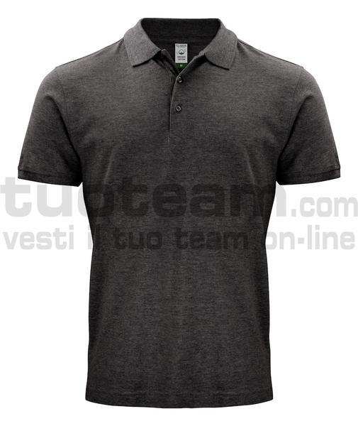 028264 - Organic Cotton Polo - 955 antracite melange