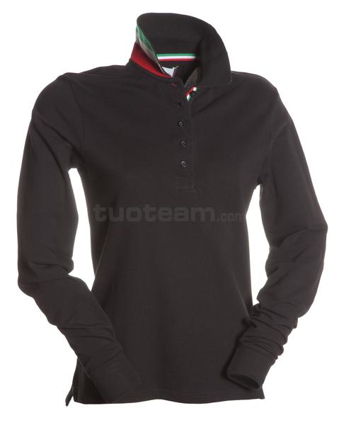 LONG-NATION LADY - POLO LONG-NATION LADY - NERO/ITALIA