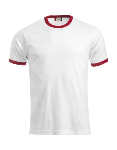 029314 - T-SHIRT Nome - 0035 bianco/rosso