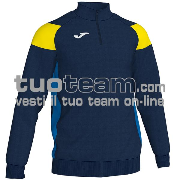 101272 - CREW III FELPA 1/2 ZIP 100% polyester fleece - 339 BLU NAVY/GIALLO