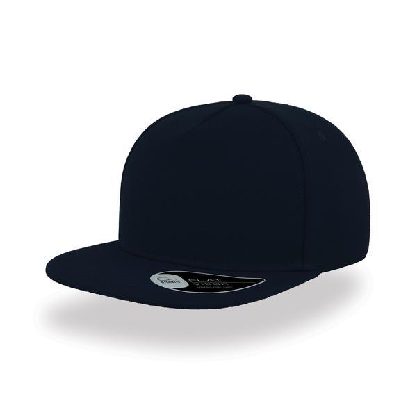 ATSNFI - Cappellino SNAP FIVE a 5 pannelli con visiera piatta - NAVY