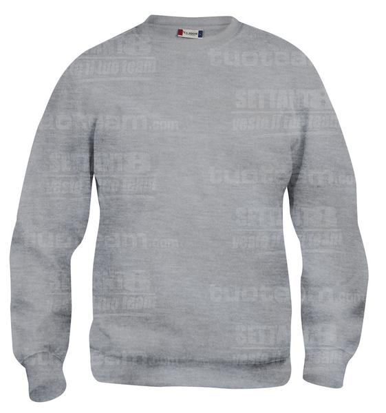 021020 - FELPA Basic Roundneck Junior - 95 grigio melange