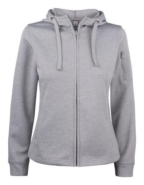 021015 - Basic Active Hoody Full Zip Lady - 95 grigio melange