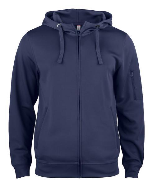 021014 - Basic Active Hoody Full Zip - 580 blu navy