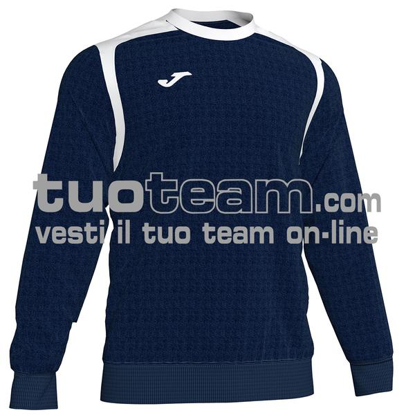 101266 - FELPA CHAMPION V girocollo 100% polyester fleece - 332 DARK NAVY / BIANCO