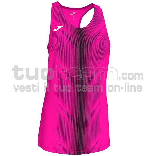 900932 - CANOTTA OLIMPIA 95% polyester 5% elastane - ROSA FLUO / NERO