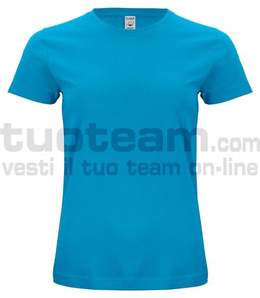 029365 - Organic Cotton T-shirt Lady - 54 turchese