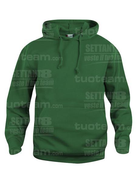 021031 - FELPA Basic Hoody - 68 verde bottiglia