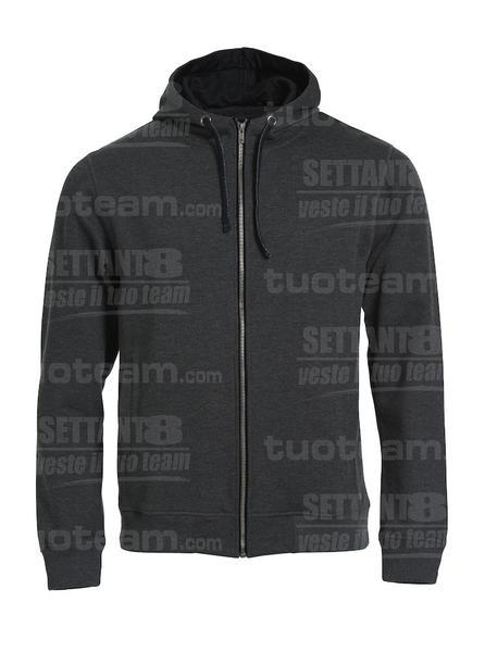 021044 - FELPA Classic Hoody Full Zip - 955 antracite melange