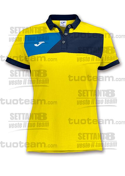 900387 - POLO CREW II DONNA - 903 GIALLO/BLU NAVY/BLU ROYAL