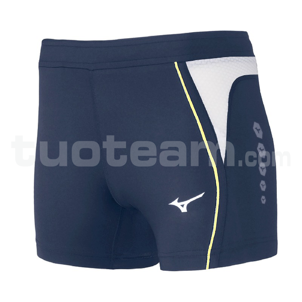 U2EB7202 - Premium JPN Short Tight - Navy/White