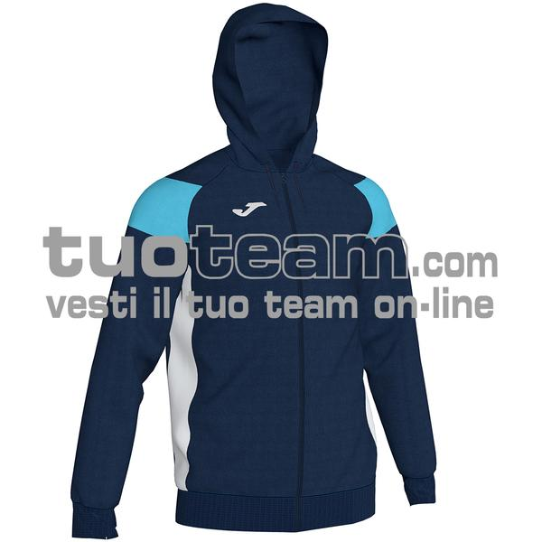 101271 - CREW III FELPA FULL ZIP 100% polyester fleece - BLU NAVY / TURCHESE FLUO