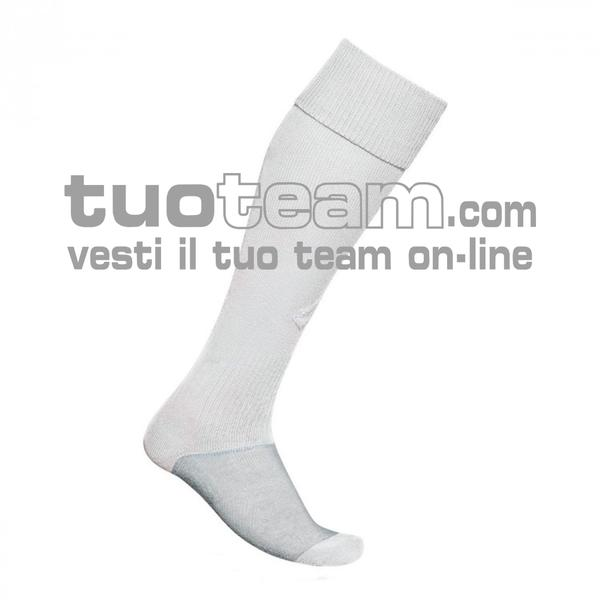 L53050 - LOGO SOCK TRNG LONG - bianco / bianco