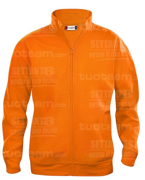 021038 - FELPA Basic Cardigan Men's - 170 arancio HV