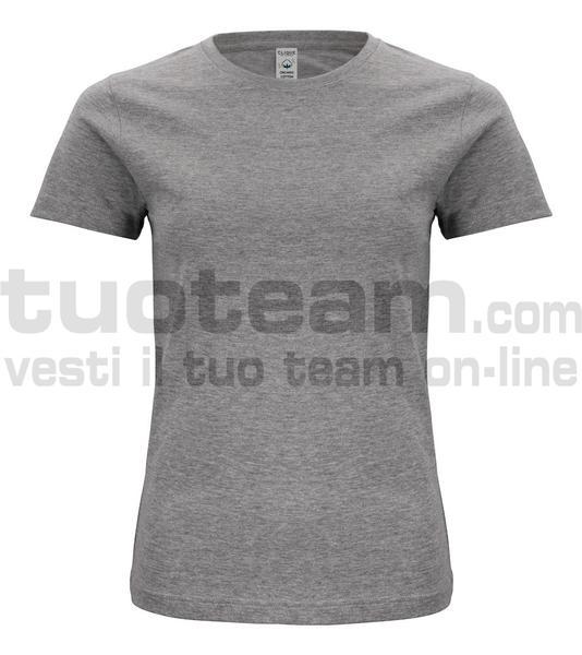 029365 - Organic Cotton T-shirt Lady - 95 grigio melange