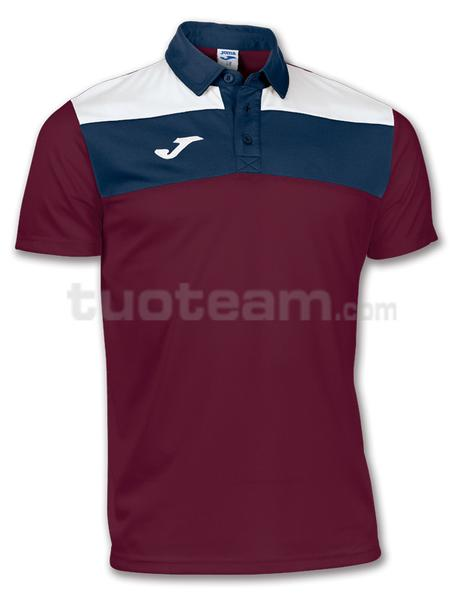 100246 - POLO M/C CREW - 650 BORDEAUX/BIANCO/BLU NAVY