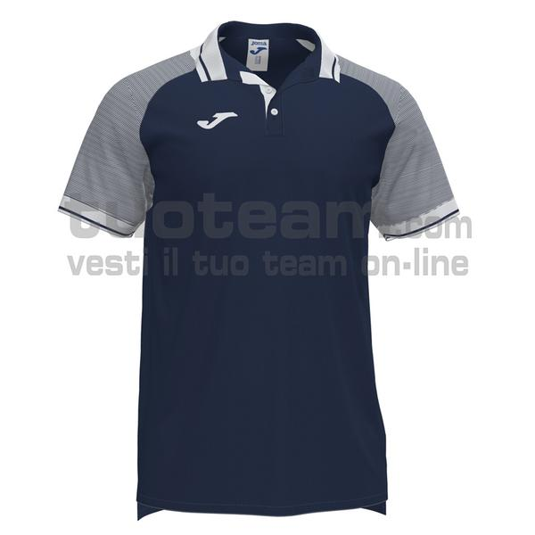 101509 - ESSENTIAL II POLO 100% polyester interlock - 332 DARK NAVY / BIANCO