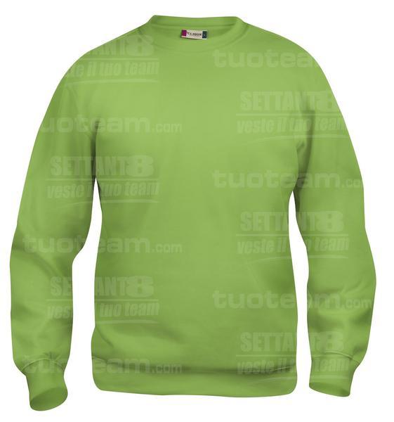 021030 - FELPA Basic Roundneck - 67 verde mela