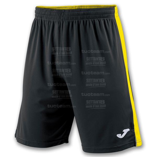 100684 - TOKIO II SHORT 100% polyester interlock - NERO/GIALLO