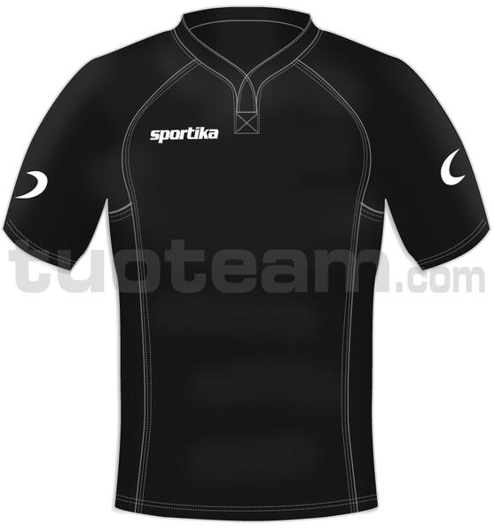 3022M - maglia rugby CORK - NERO