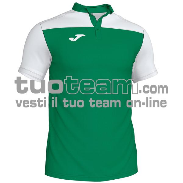 101371 - POLO HOBBY II 96% polyester 6% cotone - 452 VERDE / BIANCO