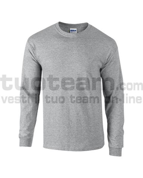 GL2400 - Ultra Cotton Maglia G/C-M/L 100% Cot. 205 gr/m2 - Sport Grey