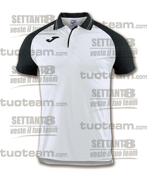100639 - TORNEO II POLO MC 100% polyester interlock - BIANCO/NERO