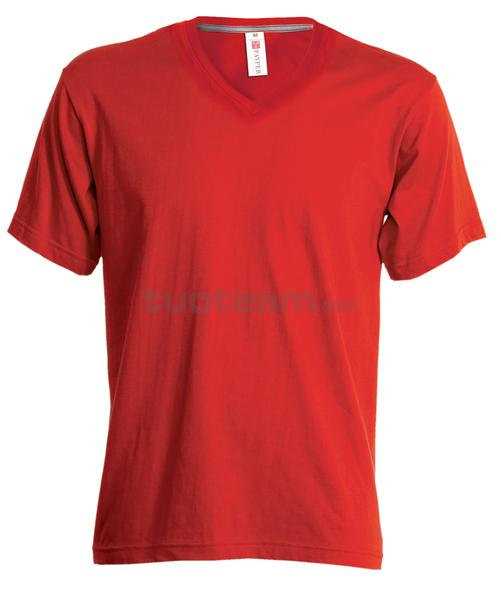 V-NECK LADY - T-SHIRT V-NECK LADY - ROSSO
