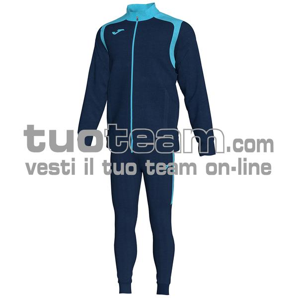 101267 - TUTA CHAMPION V 100% polyester interlock - BLU NAVY / TURCHESE FLUO