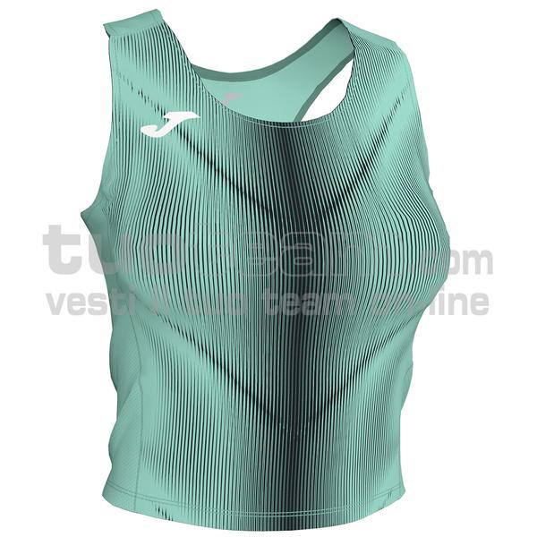 900935 - OLIMPIA WOMAN TOP 95% polyester 5% elastane - 401 VERDE FLUOR / NERO