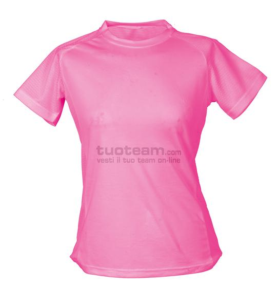 99381 - T-Shirt Montevideo Lady - Fucsia Fluo