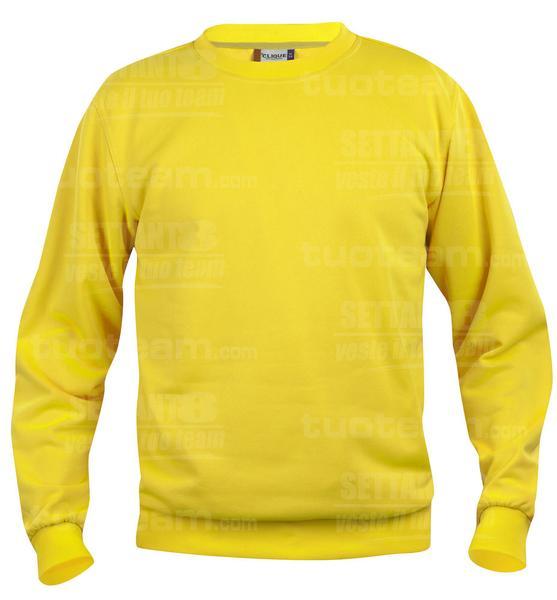 021030 - FELPA Basic Roundneck - 10 giallo limone