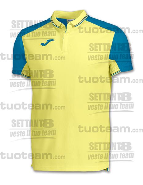 100567 - POLO GRANADA - GIALLO TENUE/BLU TURCHESE/NERO