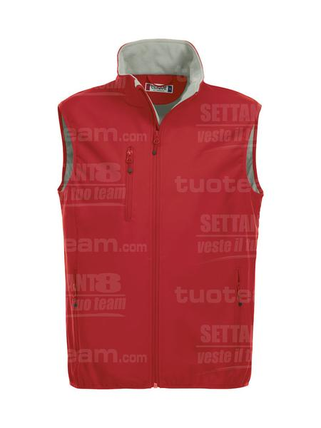 020911 - GILET Basic Softshell Vest Men - 35 rosso